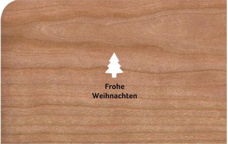 Holzkarten mit Umschlag