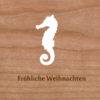 Holzkarte Seepferdchen