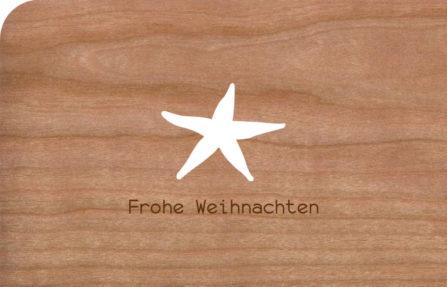 Holzkarte Seestern
