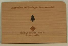 individuelle Holzkarte