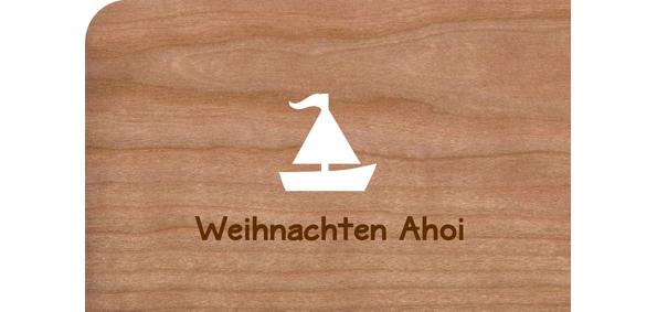 Holzkarte Segelschiff