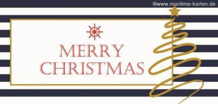 Weihnachtskarte nautische Streifen