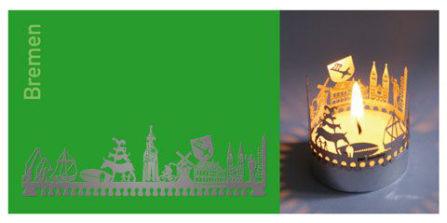 Teelichtkarte Bremen