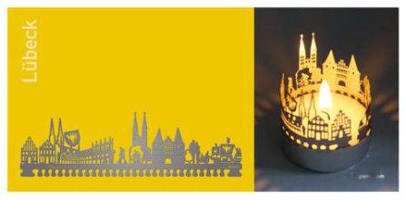 Teelichtkarte Lübeck