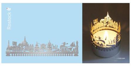 Teelichtkarte Rostock