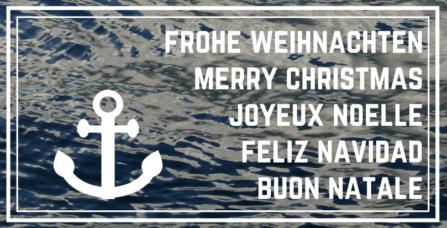 mehrsprachige maritime Weihnachtskarte