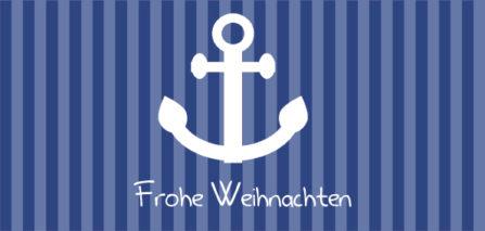 maritime Karte blau-weiß Anker