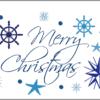 Weihnachtskarte nautisch Icons