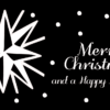 maritime Weihnachtskarte schwarz-weiß