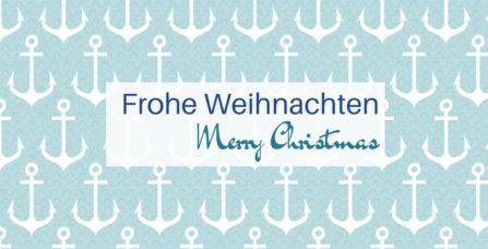 Weihnachtskarte Anker