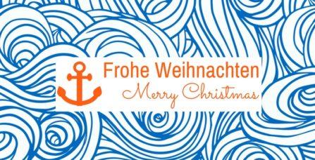 Weihnachtskarte Wilde Wellen